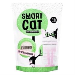 Силикагелевый наполнитель SMART CAT для чувствительных кошек (без аромата) - фото 17405