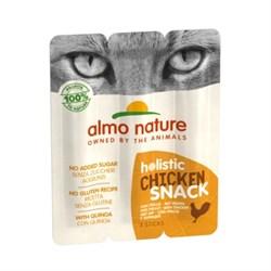 Колбаски Almo Nature для кошек   Курица , 3шт. (Azul Label Snack Cat Chicken), 15 гр. - фото 17536