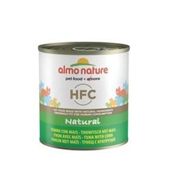 Консервы ALMO NATURE Classic Adult Tuna and Corn для взрослых кошек с тунцом и кукурузой - фото 17594