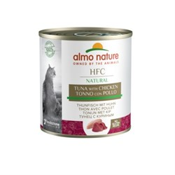 Консервы ALMO NATURE для взрослых кошек с курицей и тунцом Classic Adult Chicken and Tuna