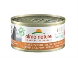 Консервы ALMO NATURE для взрослых кошек с курицей и сыром 75% мяса Legend Adult Cat Chicken Cheese