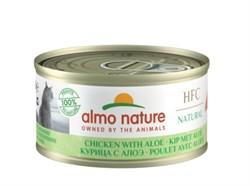 Консервы низкокалорийные ALMO NATURE для взрослых кошек с курицей и алоэ HFC Adult Cat Chicken with aloe Light
