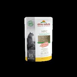 Пауч ALMO NATURE HFC Natural Plus для взрослых кошек с куриным филе 90% мяса (Alternative Chicken Fillet)