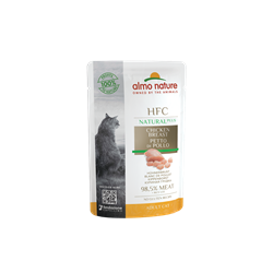 Пауч ALMO NATURE Natural Plus для взрослых кошек с куриной грудкой 95% мяса (Alternative Chicken Breast)