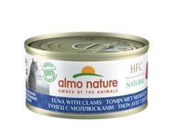 Консервы ALMO NATURE для взрослых кошек с тунцом и моллюсками Legend Adult Cat Tuna Clams
