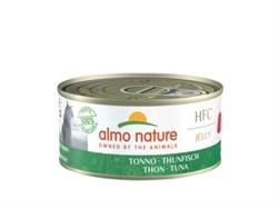 Консервы ALMO NATURE для взрослых кошек с тунцом в желе HFC Adult Cat Tuna Jelly
