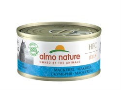 Консервы ALMO NATURE для взрослых кошек со скумбрией HFC Jelly Adult Cat Mackerel