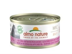 Консервы низкокалорийные ALMO NATURE для взрослых кошек морской лещ с картофелем HFC Adult Cat Cat Sea Bream with potatoes Light