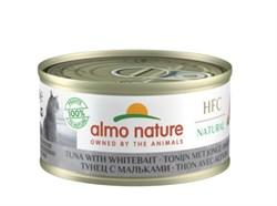 Консервы ALMO NATURE для взрослых кошек с тунцом и сардинками 75% мяса Legend Adult Cat Tuna and White Вait