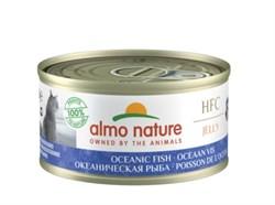 Консервы ALMO NATURE для взрослых кошек с океанической рыбой HFC Jelly Adult Cat Oceanic Fish