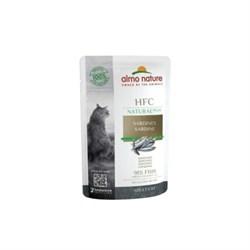 Пауч ALMO NATURE Natural Plus для взрослых кошек с сардинами 91% мяса (Alternative Sardines)