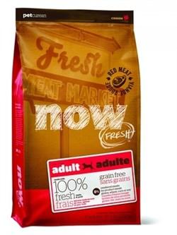 Беззерновой сухой корм NOW Fresh для взрослых собак со свежим мясом ягненка Grain Free Red Meat Adult Recipe