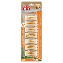 Косточки сверхпрочные для чистки зубов с куриным мясом для мелких собак 8in1 DELIGHTS Strong XS 7,5 см 7 шт - фото 18609