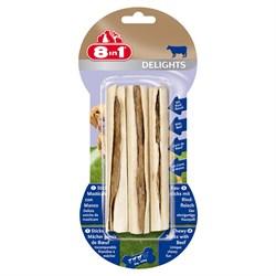 Палочки с говядиной для мелких и средних собак 8in1 DELIGHTS Beef 13 см 3 шт - фото 18613