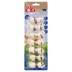 Косточки с говядиной для мелких собак 8in1 DELIGHTS Beef XS 7,5 см 7 шт - фото 18616