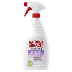 Средство для устранения запаха в кошачьем туалете 8in1 Nature's Miracle Litter Box Odor Destroyer спрей