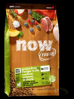 Беззерновой сухой корм NOW Fresh для взрослых собак малых пород с индейкой, уткой и овощами Grain Free Small Breed Adult Recipe новая упаковка
