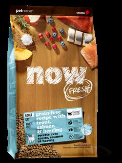 Беззерновой сухой корм NOW Fresh с форелью и лососем для взрослых кошек с чувствительным пищеварением (Grain Free Fish Adult Recipe)