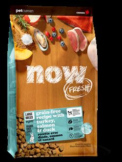 Беззерновой cухой корм NOW Fresh для щенков крупных пород с индейкой, уткой и овощами Puppy Large Breed