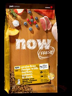 Беззерновой cухой корм NOW Fresh для щенков с индейкой, уткой и овощами Puppy Recipe Grain Free новая упаковка