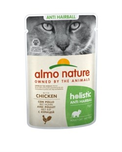 Пауч ALMO NATURE Functional для вывода шерсти у кошек с курицей Anti-Hairball with Chicken