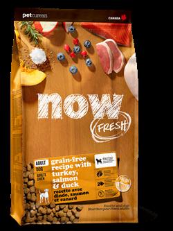 Беззерновой cухой корм NOW Fresh для взрослых собак с индейкой, уткой и овощами Adult Recipe Grain Free