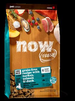 Беззерновой cухой корм NOW Fresh для пожилых собак/контроль веса крупных пород с индейкой, уткой и овощами Senior Large Breed Recipe Grain Free