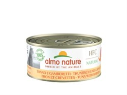 Консервы ALMO NATURE для взрослых кошек с тунцом и креветками Natural - Tuna and Shrimps
