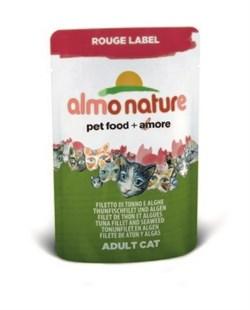 Пауч ALMO NATURE Rouge label Tuna Fillet and Se для взрослых кошек с тунцом и морскими водорослями - фото 4513