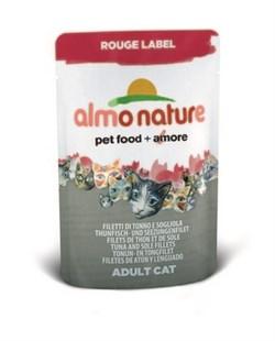 Пауч ALMO NATURE Rouge label Tuna Sole Fillets для взрослых кошек с тунцом и камбалой - фото 4514