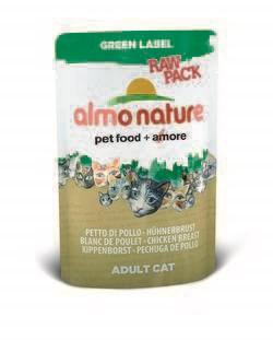 """Пауч ALMO NATURE Green label Cat Chicken Breast 75% мяса для взрослых кошек """"Куриная грудка"""" - фото 4516"""