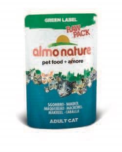 """Пауч ALMO NATURE Green label Cat Mackerel 75% мяса для взрослых кошек """"Макрель"""" - фото 4517"""