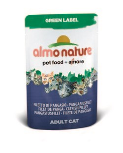 "Пауч ALMO NATURE Green label Cat Catfish 75% мяса для взрослых кошек ""филе зубатки"" - фото 4524"