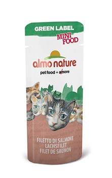 Лакомство Almo Nature для кошек  Филе Лосося , 99% мяса (Green Label Mini Food Salmon Fillet), 3 гр - фото 4570