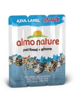 Колбаски Almo Nature для кошек   Тунец , 3шт. (Azul Label Snack Cat Tuna), 15 гр. - фото 4573