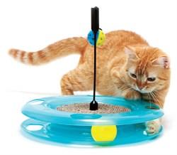 Игрушка Kitty City для кошек: Поле Чудес.  Swat Track and Scratcher : 31*31*6см (sp0369). - фото 4628