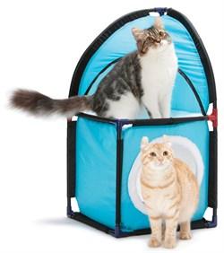 Домик Kitty City для кошек: Место встречи. Kitty Corner : 72*36*36см, флис (sp0232). - фото 4635