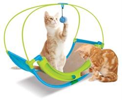 Когтеточка Kitty City для кошек Школа Рока.  Rocking Roller  46*60*33см, сизаль (sp0344). - фото 4637