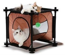 Когтеточка Kitty City для кошек: Кошкин Дом. Peek-a-Boo Passage : 44*45*45см (sp0312). - фото 4645