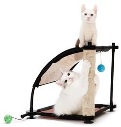 Игровой комплекс с когтеточкой Kitty City для кошек: Белая гора.  Climbing Hill : 44*45*45см, сизал - фото 4649