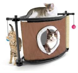 Игровой комплекс с когтеточкой Kitty City для кошек: Сонное царство.  Sleepy Corner : 44*45*45см, с - фото 4651