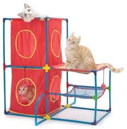Игровой комплекс Kitty City для кошек: Пентхаус.  Cat Play Center : 76*76*76см (sp0075). - фото 4653