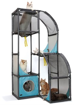 Игровой комплекс Kitty City для кошек Мегаполис.  Skyscraper : 157,5*80*80см (sp0234). - фото 4667