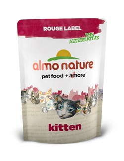Сухой корм ALMO NATURE New 100% Fresh Rouge label The Alternative Kitten Chicken для котят с курицей - фото 4737
