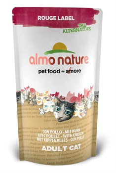 Сухой корм ALMO NATURE New 100% Fresh Rouge label The Alternative Cat Chicken для взрослых кошек с курицей - фото 4745