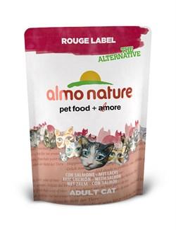 Сухой корм ALMO NATURE New 100% Fresh Rouge label The Alternative Cat Salmon для взрослых кошек с лососем - фото 4751