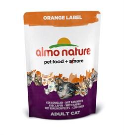 Сухой корм ALMO NATURE Orange label Cat Rabbit для кастрированных кошек с кроликом - фото 4757