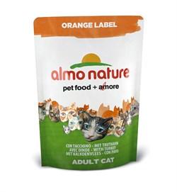Сухой корм ALMO NATURE Orange label Cat Turkey для кастрированных кошек с индейкой - фото 4773