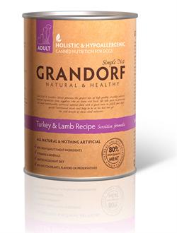 Консервы GRANDORF для взрослых собак всех пород с индейкой и ягненком - фото 4780