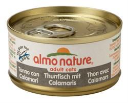 Консервы ALMO NATURE Classic Adult Cat Tuna/Squids для взрослых кошек тунец с кальмаром - фото 4837